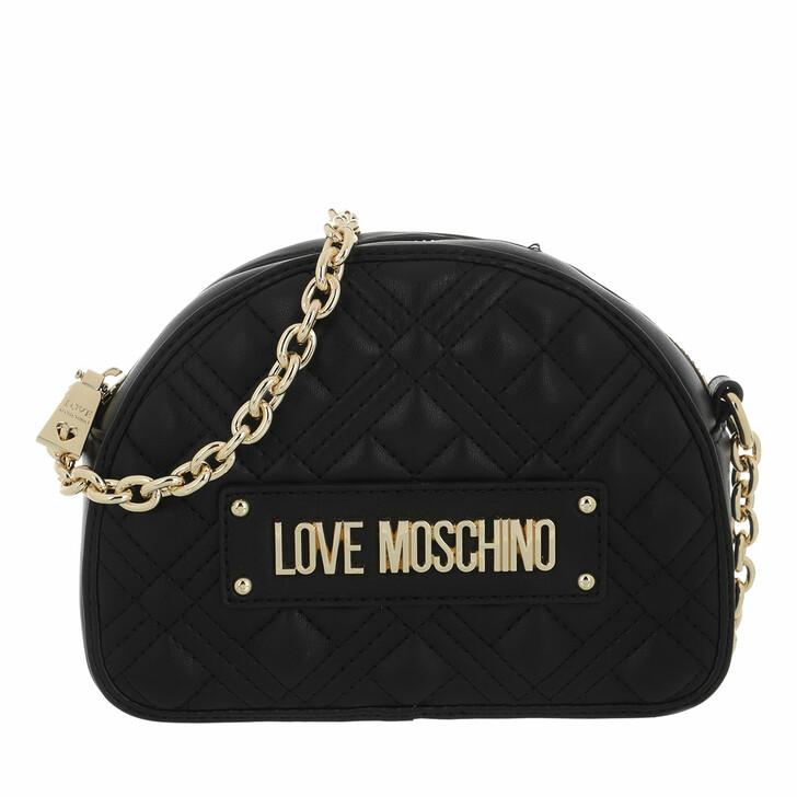 bags, Love Moschino, Borsa Quilted Nappa Pu  Nero