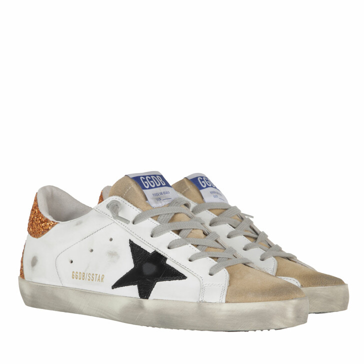 shoes, Golden Goose, Superstar Sneakers White/Capuccino