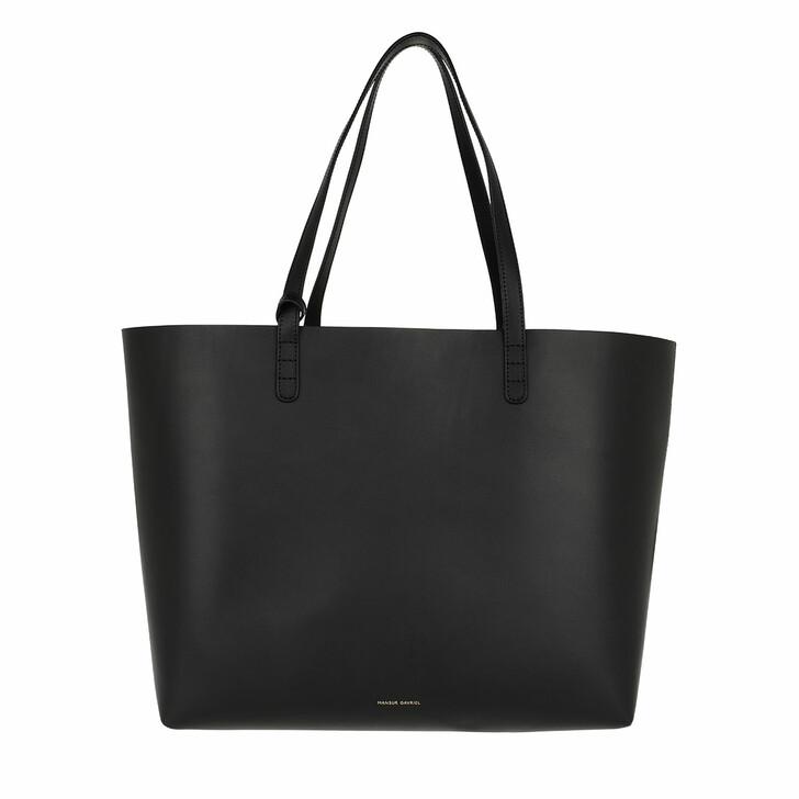 Handtasche, Mansur Gavriel, Everyday Tote Large Leather Black/Flamma