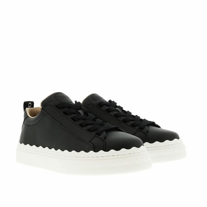 shoes, Chloé, Lauren Sneaker Smooth Calfskin Black