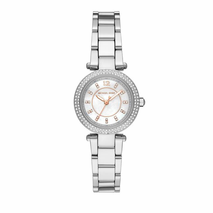 watches, Michael Kors, Women's Parker Three-Hand Stainless Steel Watch MK Silver