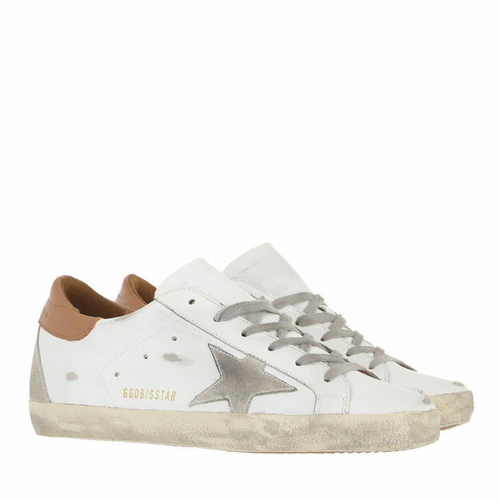 shoes, Golden Goose, Superstar Sneakers White/Ice/Light Brown