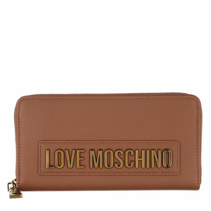 Geldbörse, Love Moschino, Wallet Smooth  Cuoio Cuoio