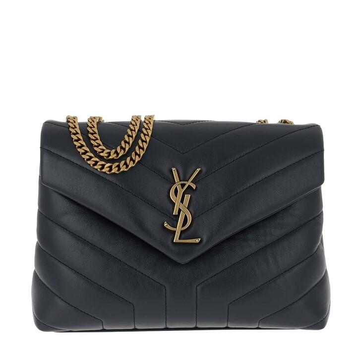 Handtasche, Saint Laurent, LouLou Shoulder Bag S Leather Deep Marine