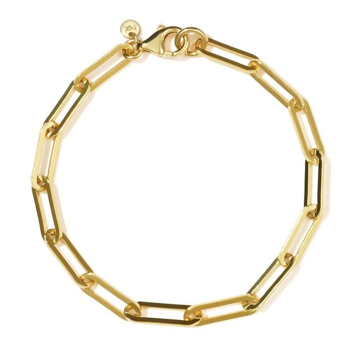 bracelets, Meadowlark, Paperclip Heavy Bracelet Gold Plated