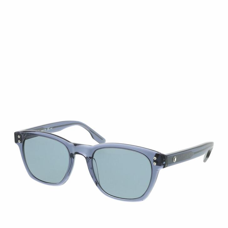 Sonnenbrille, Montblanc, MB0122S-004 51 Sunglass MAN ACETATE Blue
