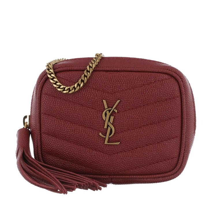 Handtasche, Saint Laurent, Lou Baby Shoulder Bag Leather Opyum Red