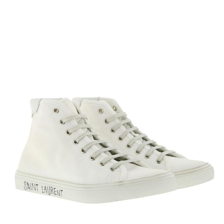 Schuh, Saint Laurent, Malibu Hightop Sneaker Blanc Optique