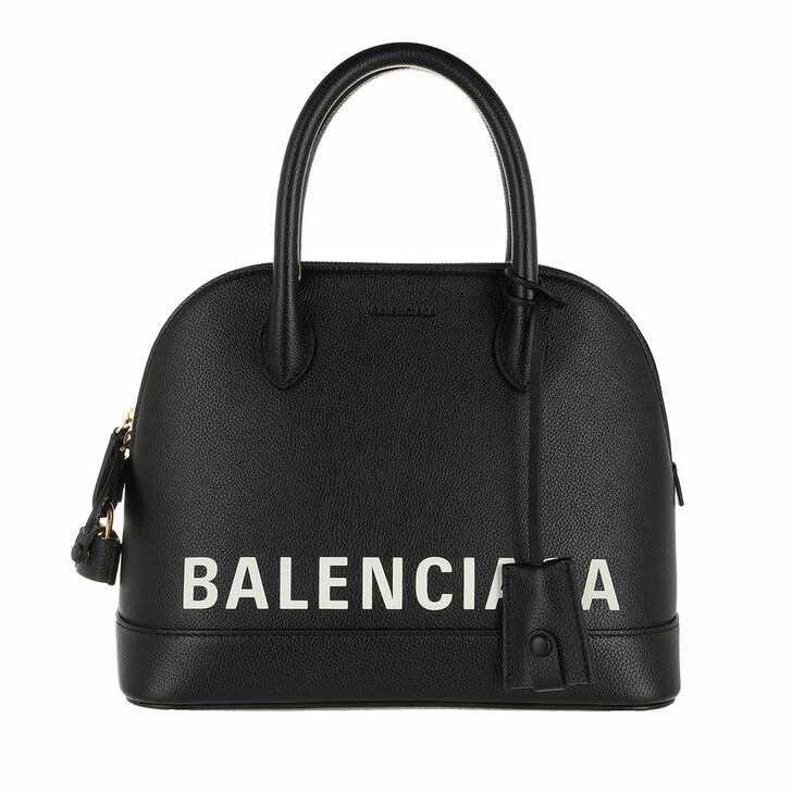 Handtasche, Balenciaga, Ville Top Handle Bag Black White