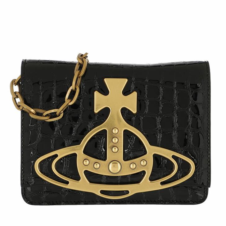 Handtasche, Vivienne Westwood, Archive Orb Crossbody Black/Brass