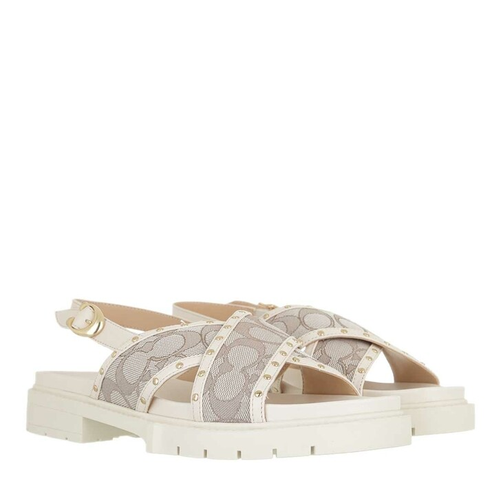 shoes, Coach, Palmer Jacquard Sandal Stone