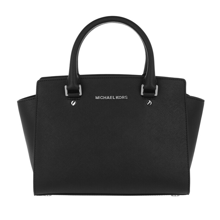 Handtasche, MICHAEL Michael Kors, Selma MD TZ Satchel Bag Black