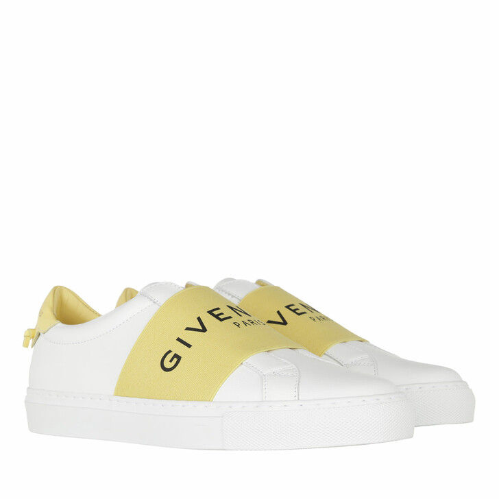 Schuh, Givenchy, Paris Webbing Sneaker Leather White/Yellow