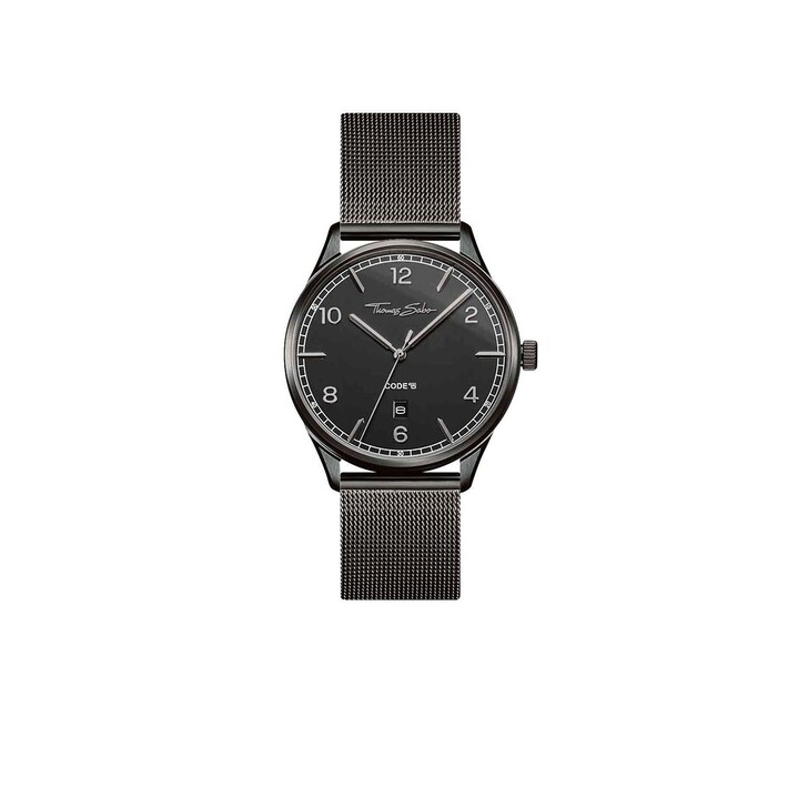 Uhr, Thomas Sabo, Watch Unisex Cose TS Black/Grey
