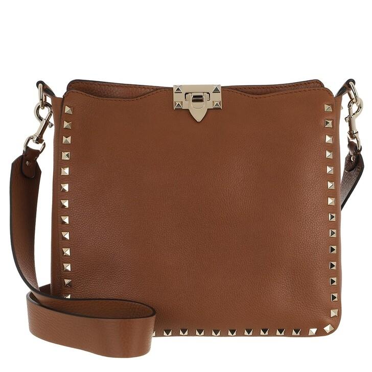 Handtasche, Valentino, Rockstud Nappa Messenger Bag Selleria