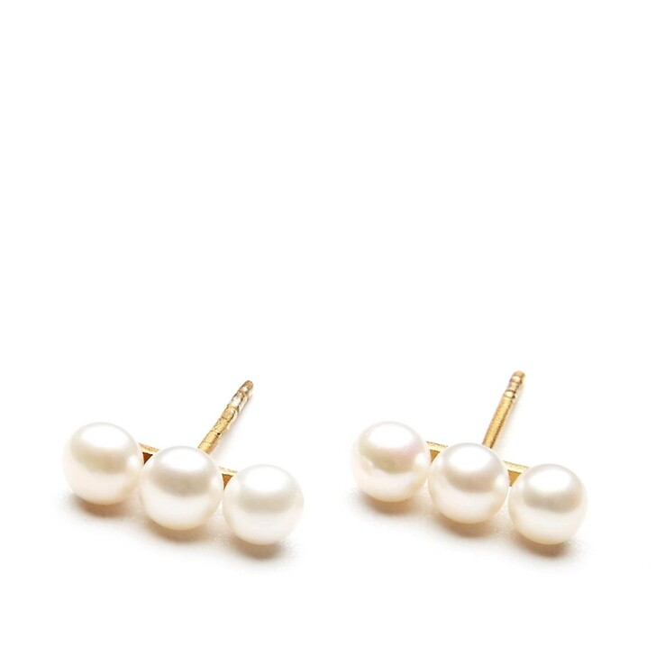 Ohrring, Charlotte Lebeck, Eve Pearl Earring Yellow Gold