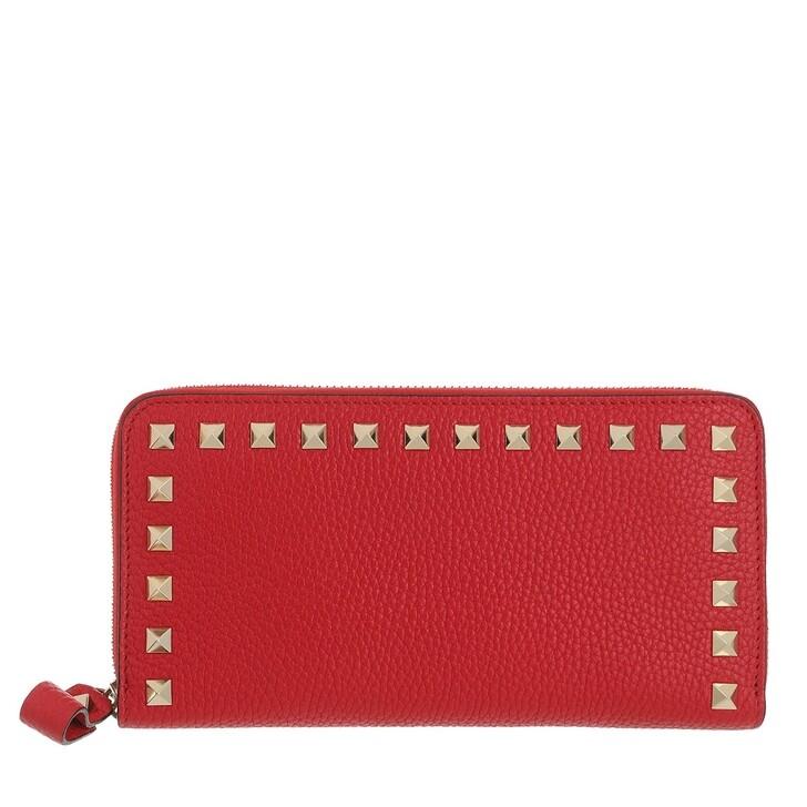 wallets, Valentino Garavani, Rockstud Wallet Leather Rouge Pur