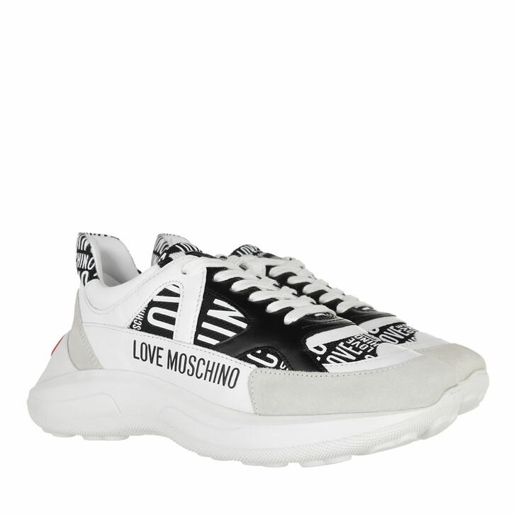 shoes, Love Moschino, Sneakerd Running60 Mix  Nero Bianco