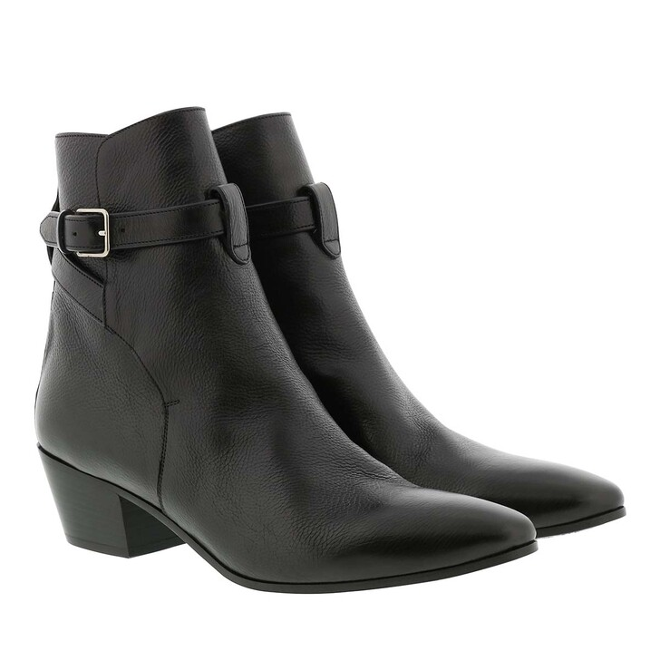 Schuh, Saint Laurent, Jodhpur West Boots Leather Black