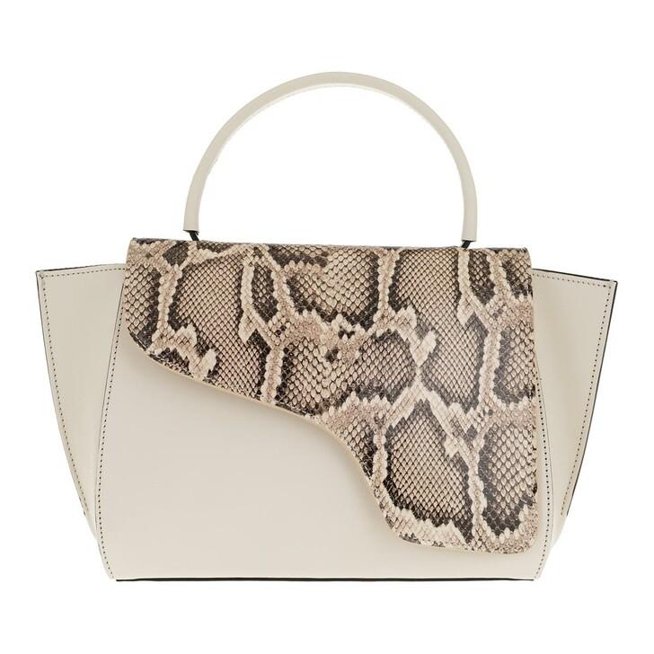 Handtasche, ATP Atelier, Medium Tote Beige Ice White