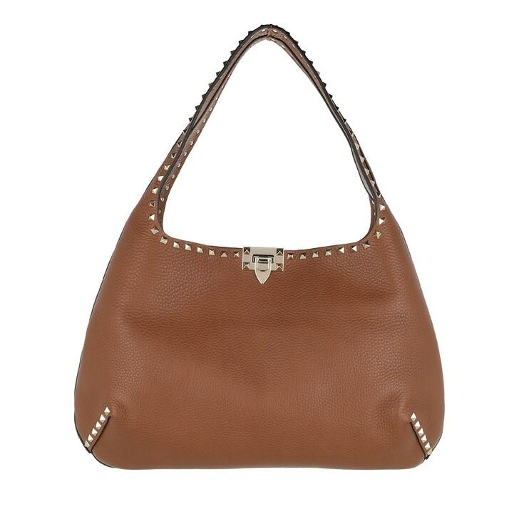 Handtasche, Valentino Garavani, Rockstud Hobo Bag Leather Selleria