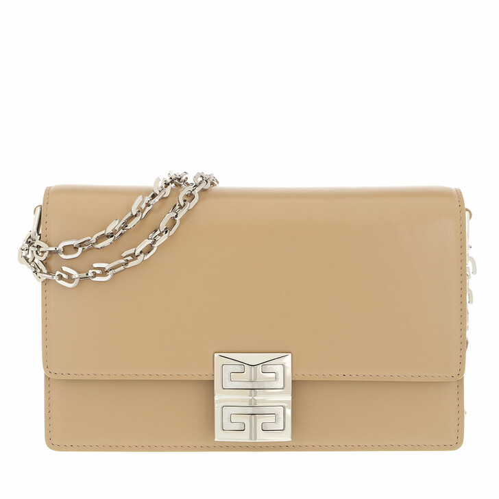 bags, Givenchy, Small 4G Box Chain Crossbody Bag Leather Beige