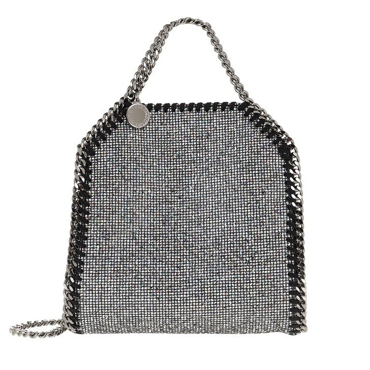 Handtasche, Stella McCartney, Tiny Fabella Tote Leather Ruthenium