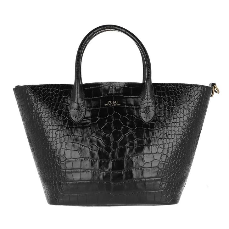 Handtasche, Polo Ralph Lauren, Open Medium Tote Black