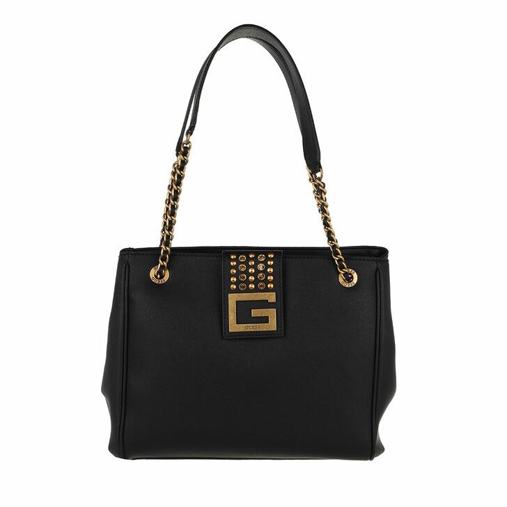bags, Guess, Bling Girlfriend Tote Black