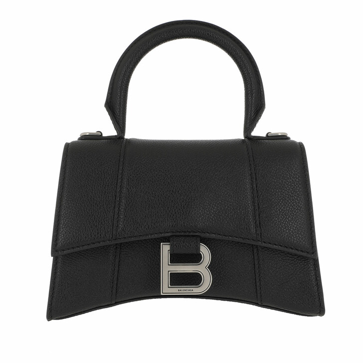 Handtasche, Balenciaga, Hourglass Small Handle Bag Black