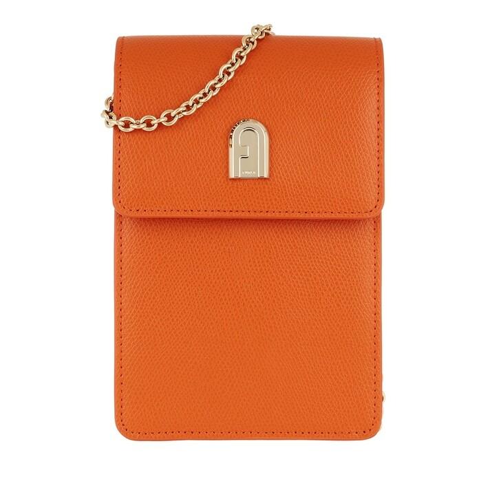 bags, Furla, 1927 Mini Vertical Crossbody Orange