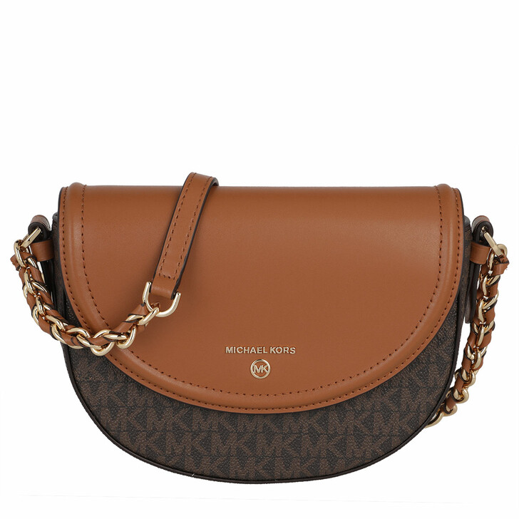 Handtasche, MICHAEL Michael Kors, Jet Set Charm Medium Half Dome Chain Crossbody Bag Brown/Acorn