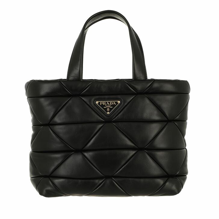 bags, Prada, System Handle Bag Leather Black
