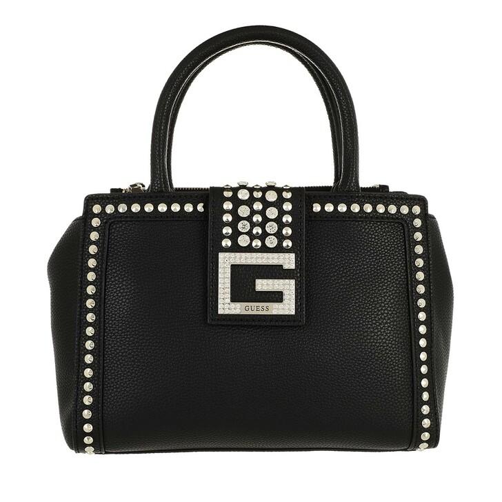 bags, Guess, Bling Society Satchel Black