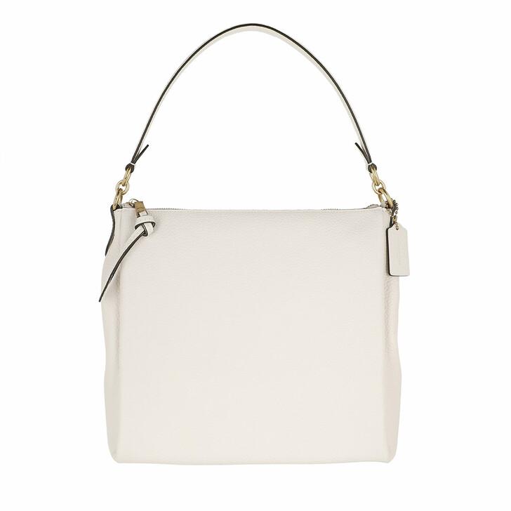 Handtasche, Coach, Soft Pebble Leather Shay Shoulder Bag Chalk