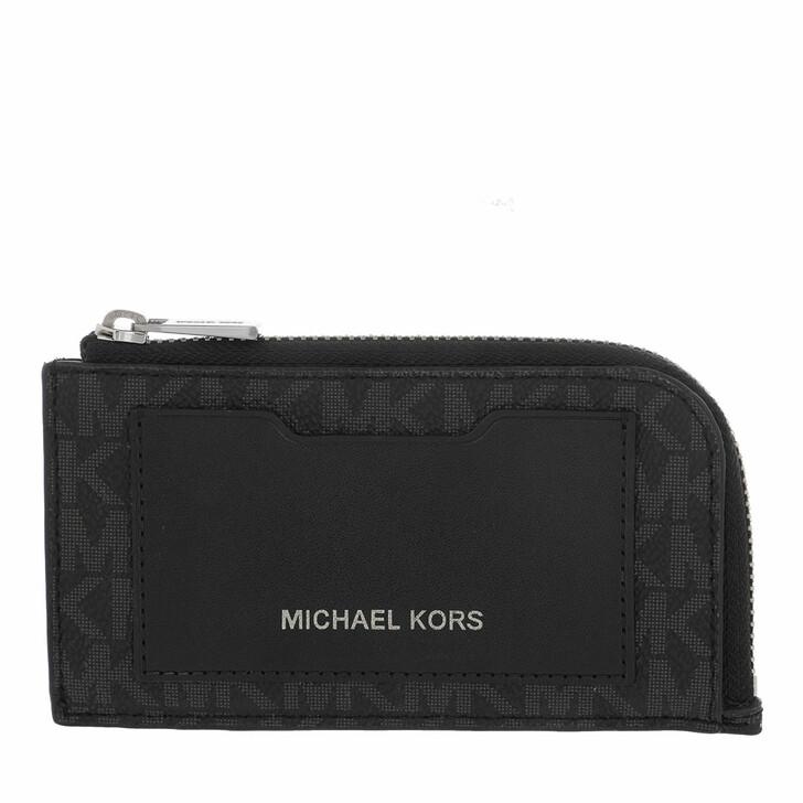 Geldbörse, MICHAEL Michael Kors, Large Zip Wallet Black