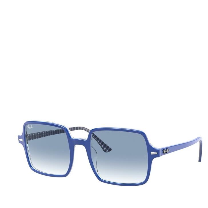 sunglasses, Ray-Ban, AZETAT WOMEN SONNE TOP BLU ON TEXTURE VICHY BLU W