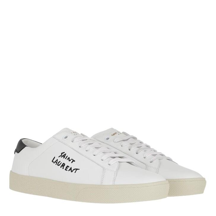 Schuh, Saint Laurent, Court Classic Logo Sneaker White