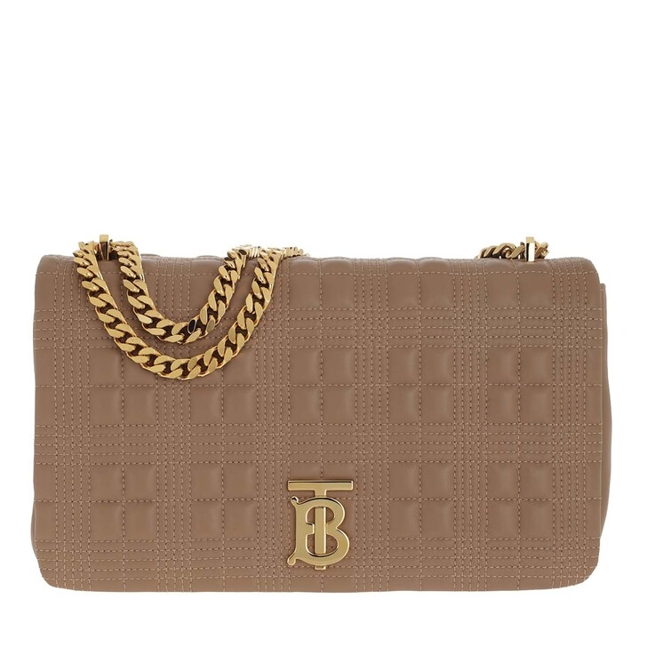 bags, Burberry, Lola Medium Quilted Lambskin Camel