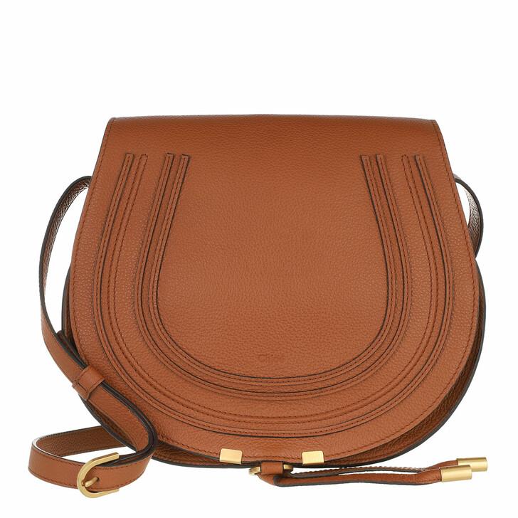 bags, Chloé, Marcie Medium Saddle Bag Grained Leather Tan