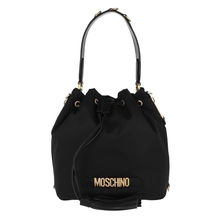 Handtasche, Moschino, Borsa Tracolla Fantasia Nero