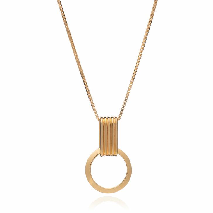 Kette, Rachel Jackson London, Eternity Circle Gold Necklace Gold