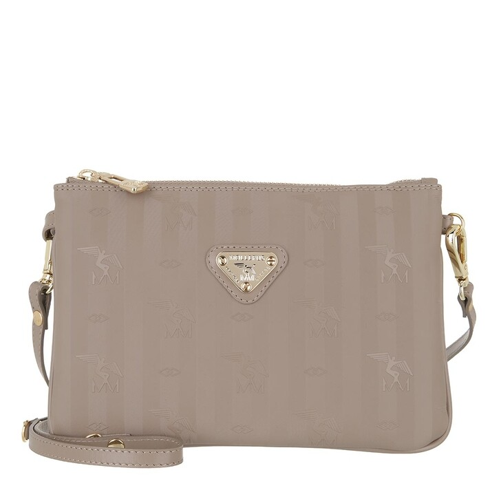 bags, Maison Mollerus, Crossover Small Taupe Gold