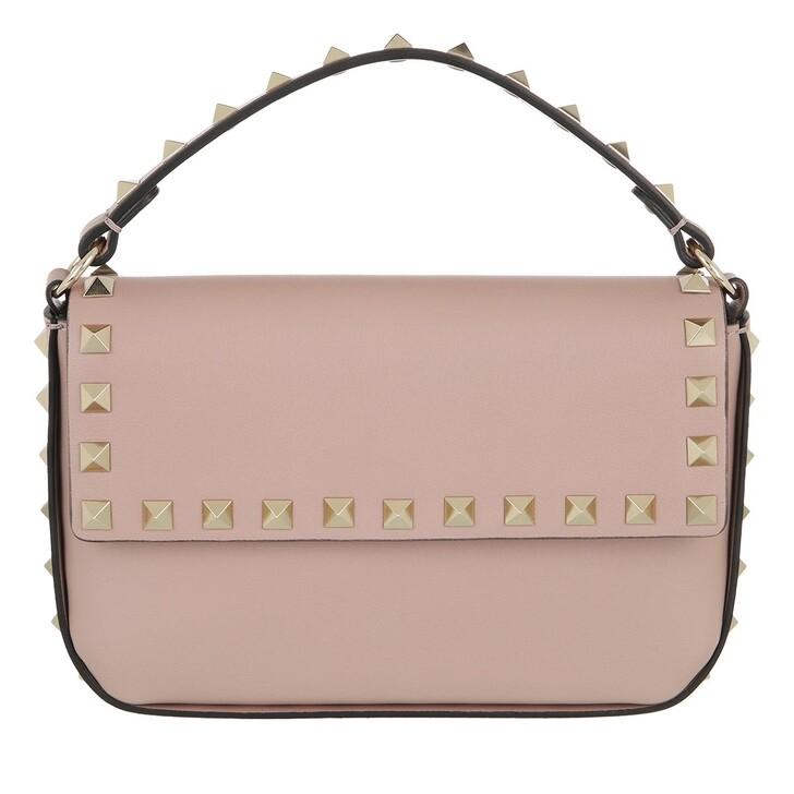 bags, Valentino Garavani, Rockstud Pouch Bag Leather Poudre