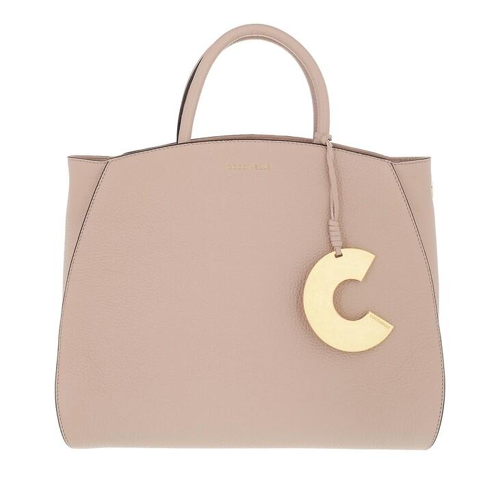bags, Coccinelle, Concrete Handbag Grainy Leather  Powder Pink