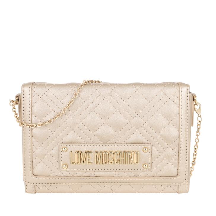 Handtasche, Love Moschino, Borsa Quilted Nappa Crossbody Bag Oro