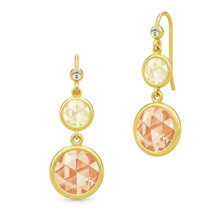 earrings, Julie Sandlau, Cocktail Double Earrings Lemon/Champagne
