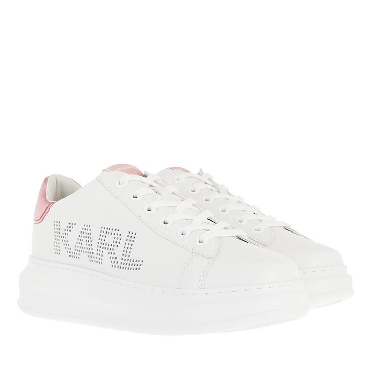 shoes, Karl Lagerfeld, KAPRI Karl Punkt Logo Lo White Leather/Pink