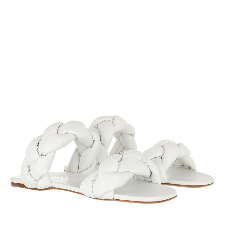 Schuh, Miu Miu, Padded Sandals Leather White
