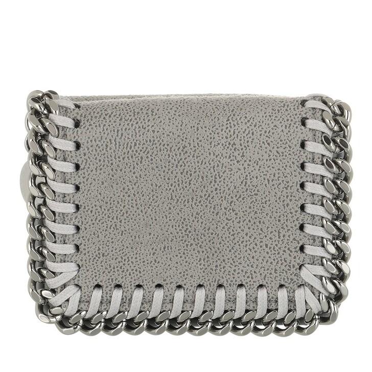 Geldbörse, Stella McCartney, Falabella Mini Wallet Leather Grey